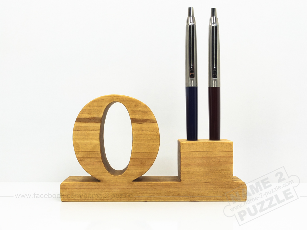 3d wooden pen holder