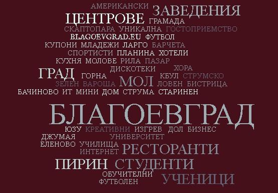 word cloud Blagoevgrad 13