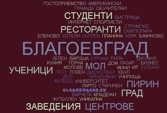 word cloud Blagoevgrad 8